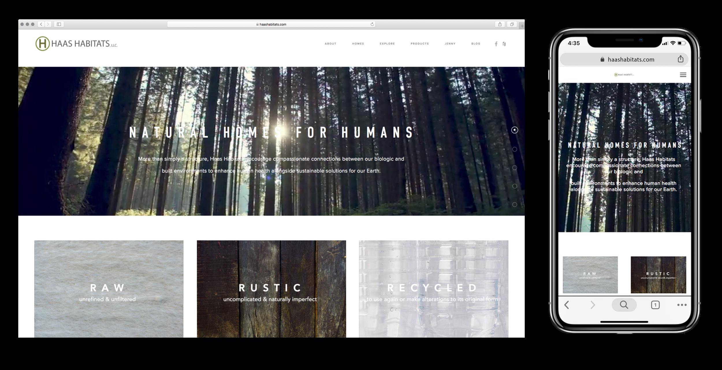 Haas Habitats Website