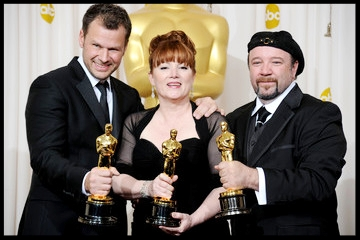 "Client Barney Burman  (right)  wins Best Makeup Oscar for "" Star Trek ,"" 2010"