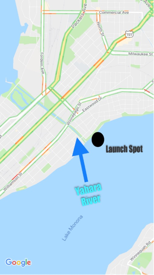 Map of launch spot