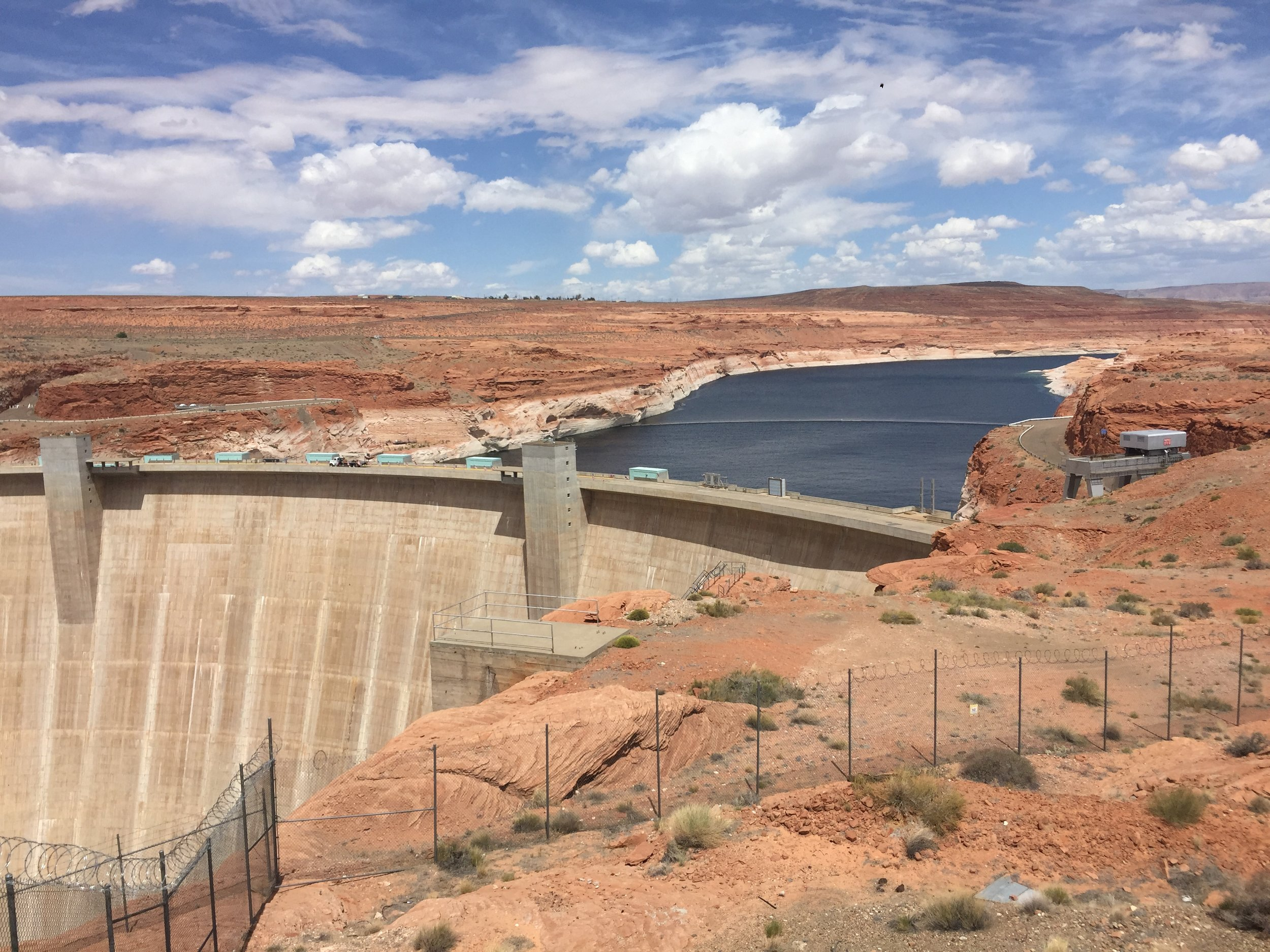 View of Lake Powell from the Glen Canyon Dam
