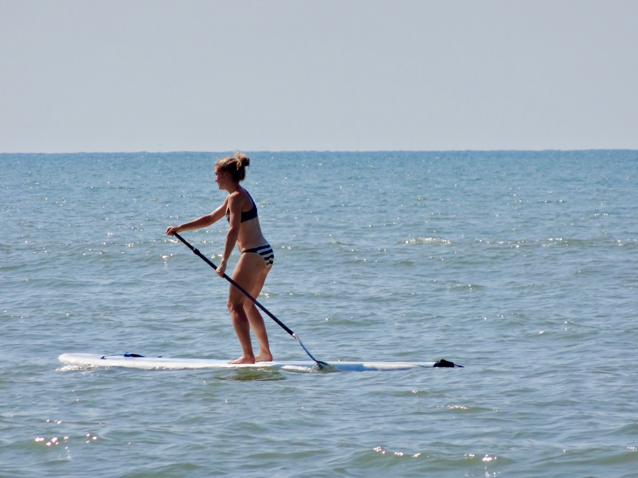 Paddling in the Atlantic Ocean