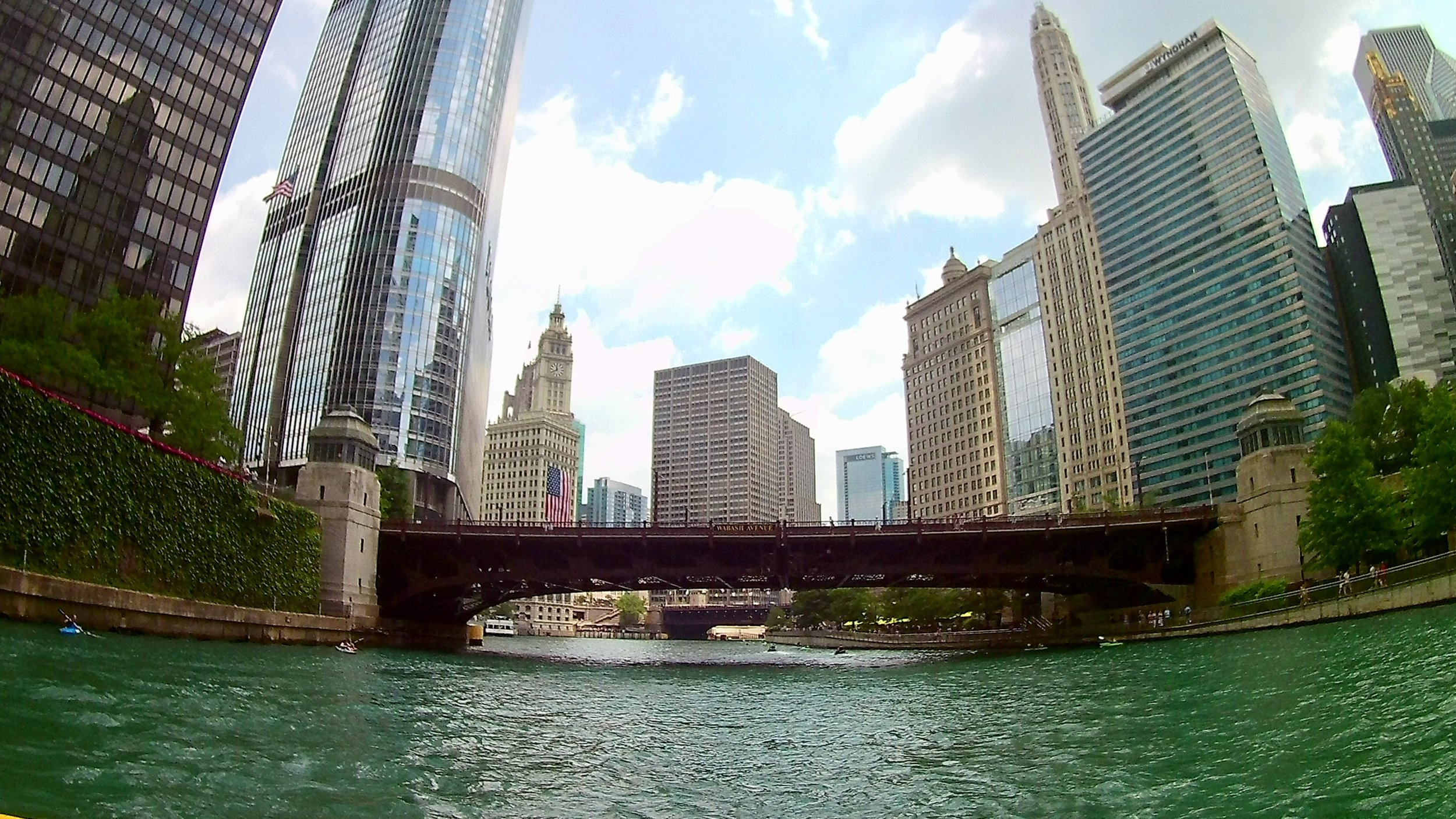 Heading east on the Chicago River