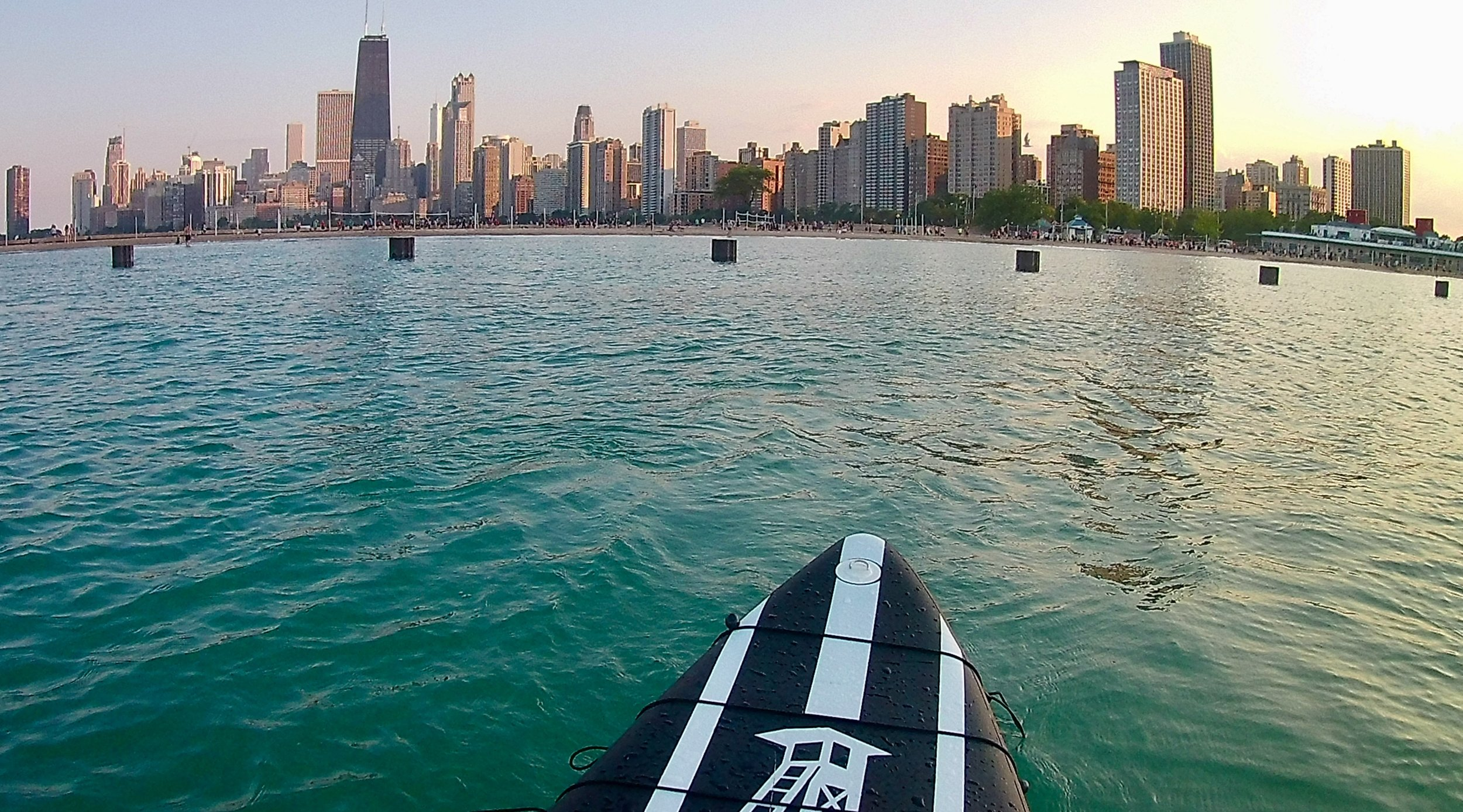 View from the water near North Avenue Beach