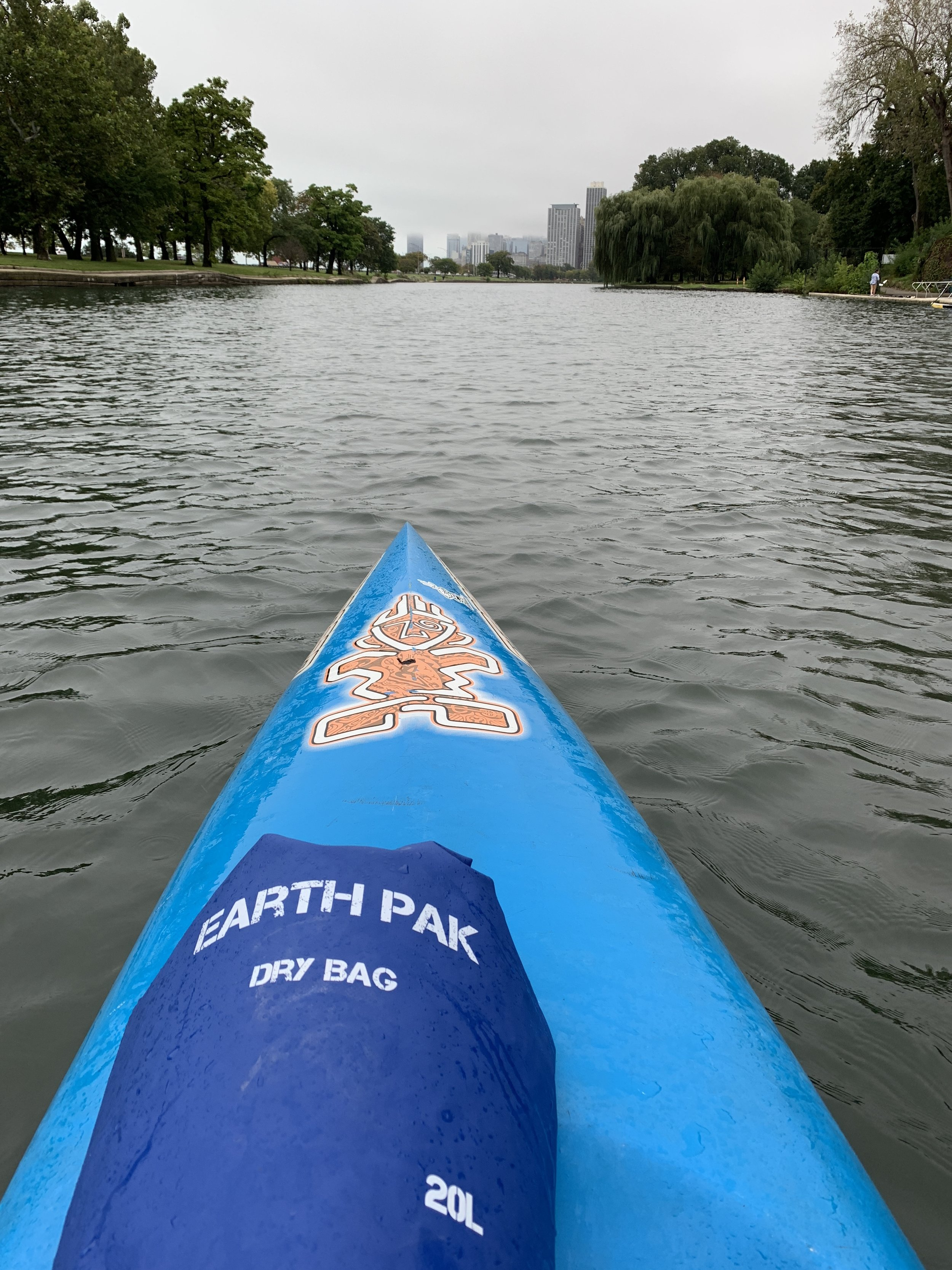 Foggy paddle with my Earth Pak dry bag