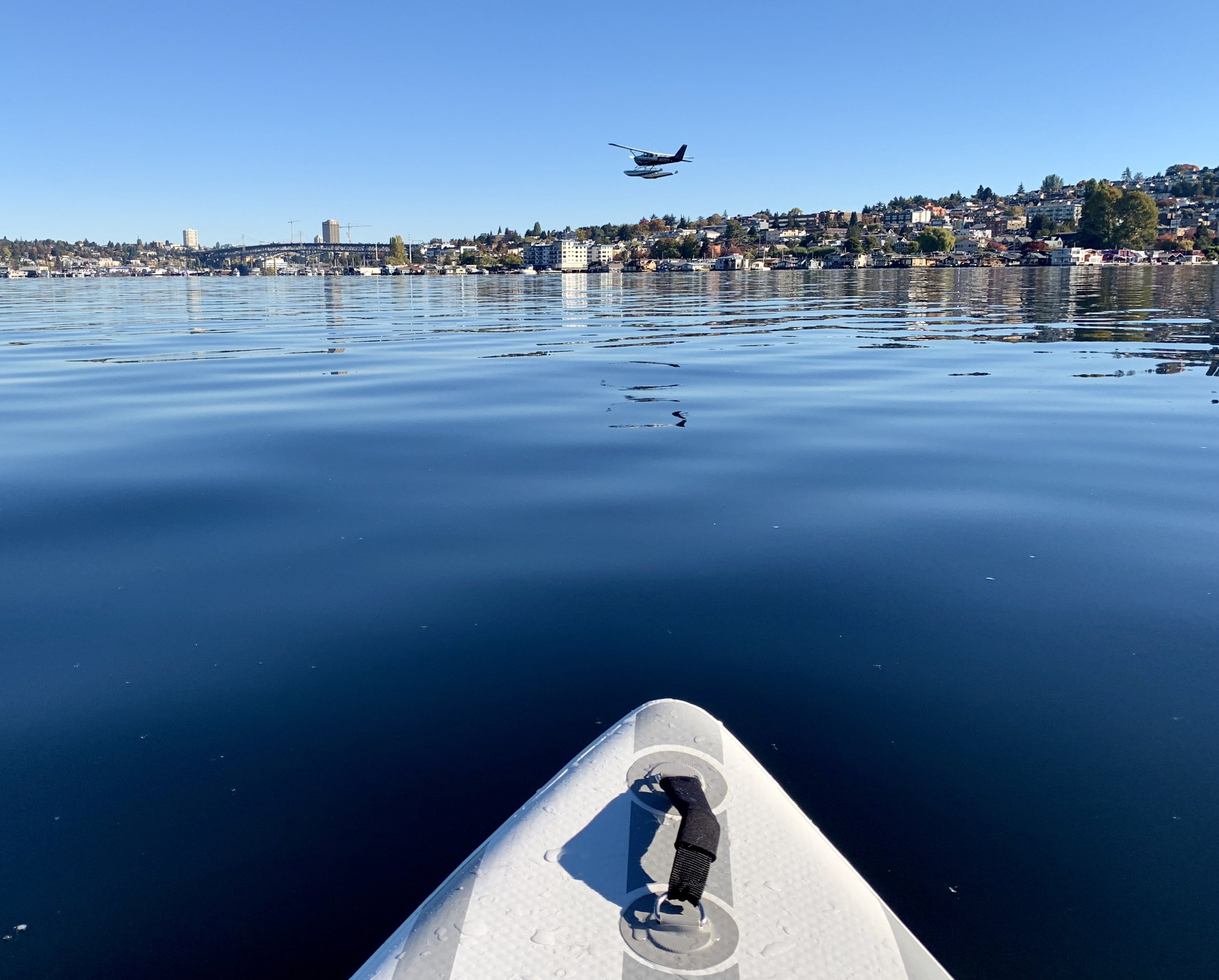 Watching the seaplanes on Lake Union