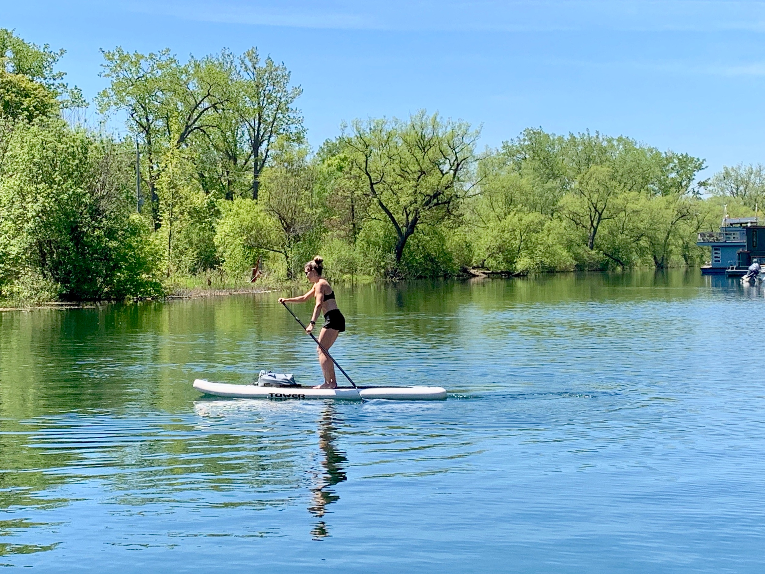 Paddling through the Toronto Islands