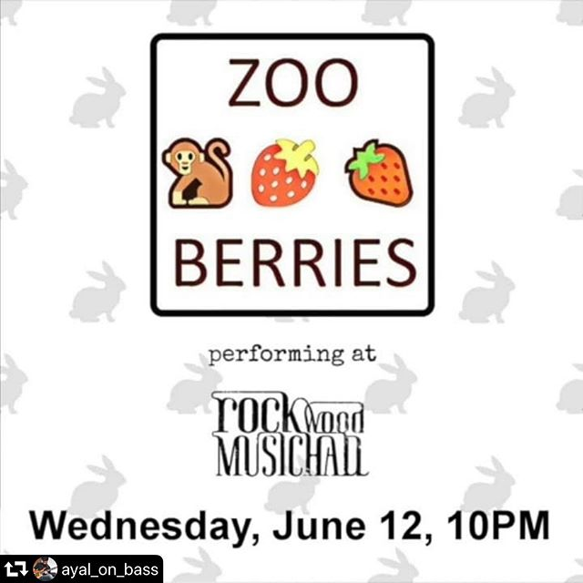 New York City! Catch @ayal_on_bass and his band Zoo Berries tomorrow - Wednesday- 10pm at @rockwoodmusichall IT'S FREE. Party like the weekend on a Wednesday!