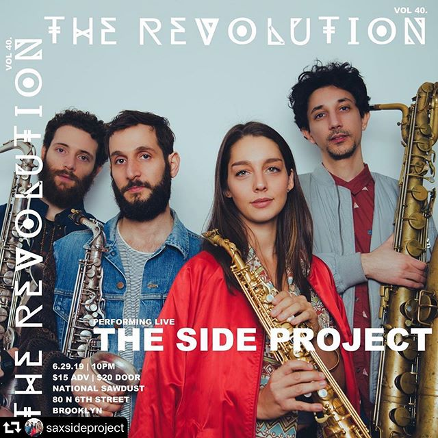@saxsideproject new 💿📀💿 release show coming up!!! Catch them (and guests!) at @nationalsawdust June 29th.