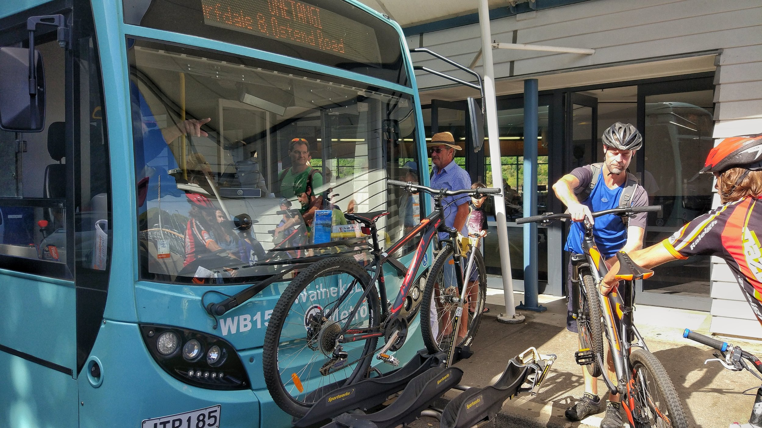 Bikes on buses on Waiheke. We were lucky this time