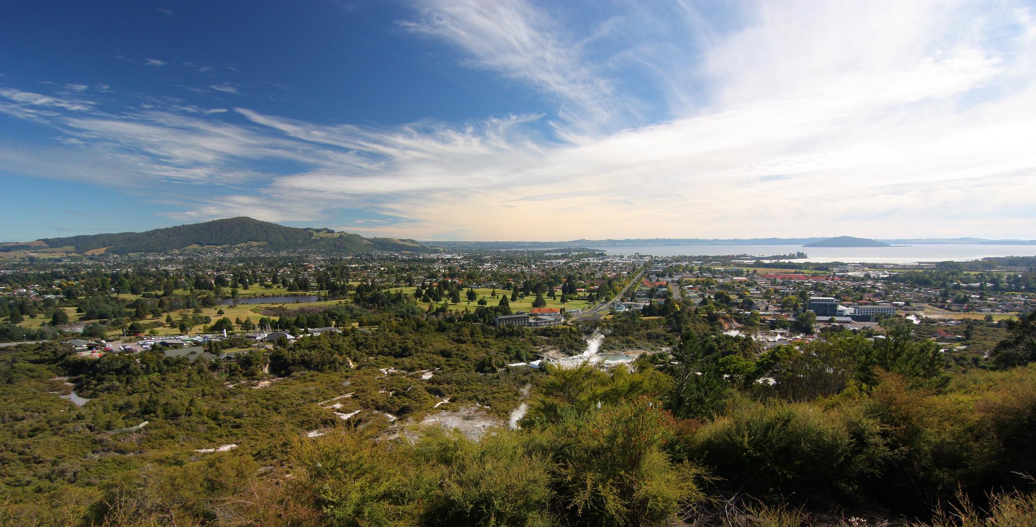 Rotorua view. Photo by Ang Wickham