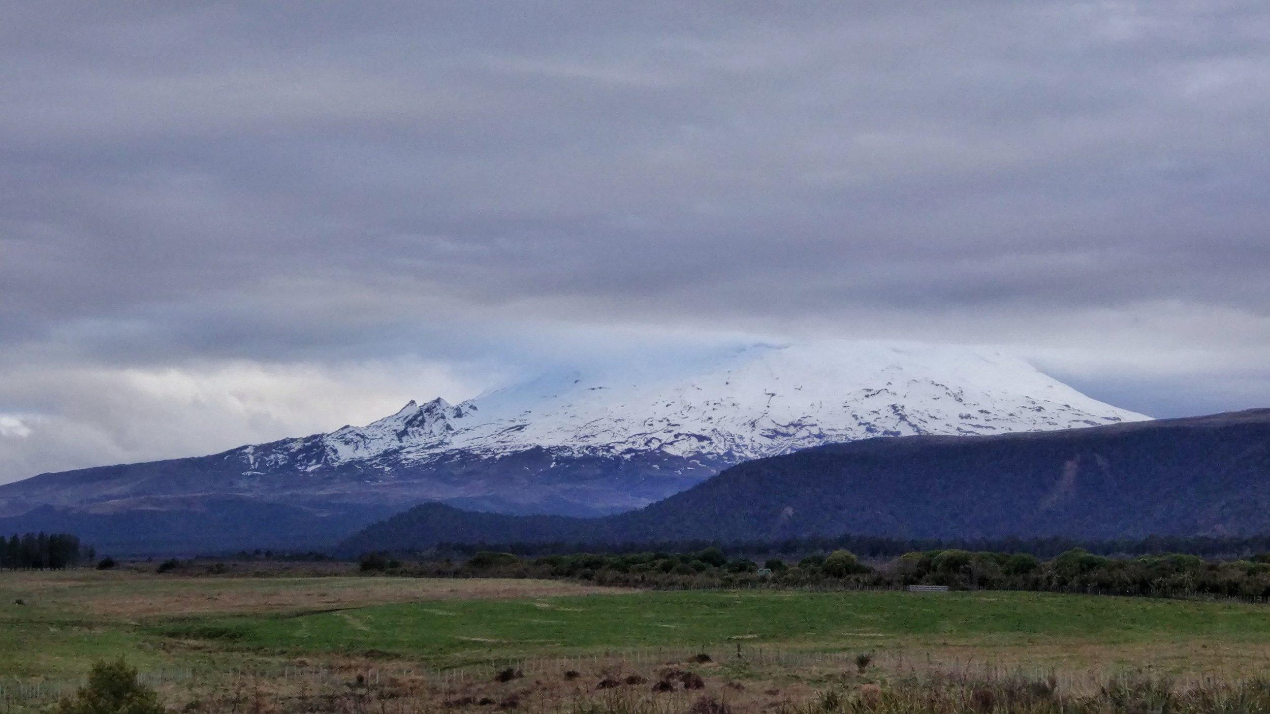 Skiing on Mt. Ruapehu in late winter