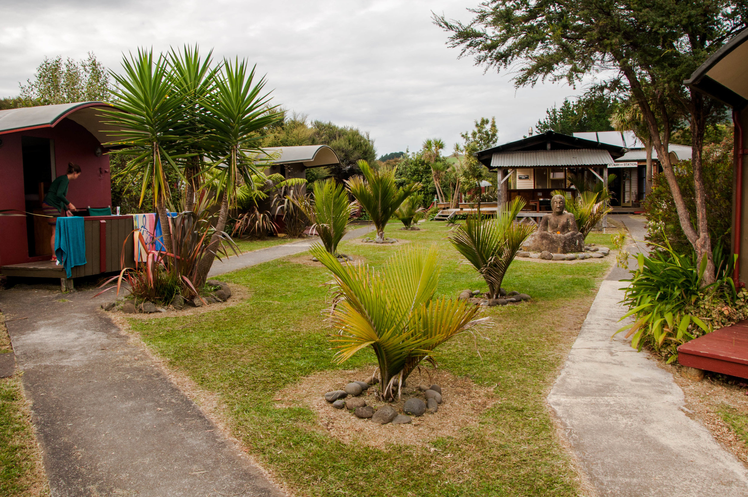 "The very cool Solscape ""backpackers"" in Raglan"