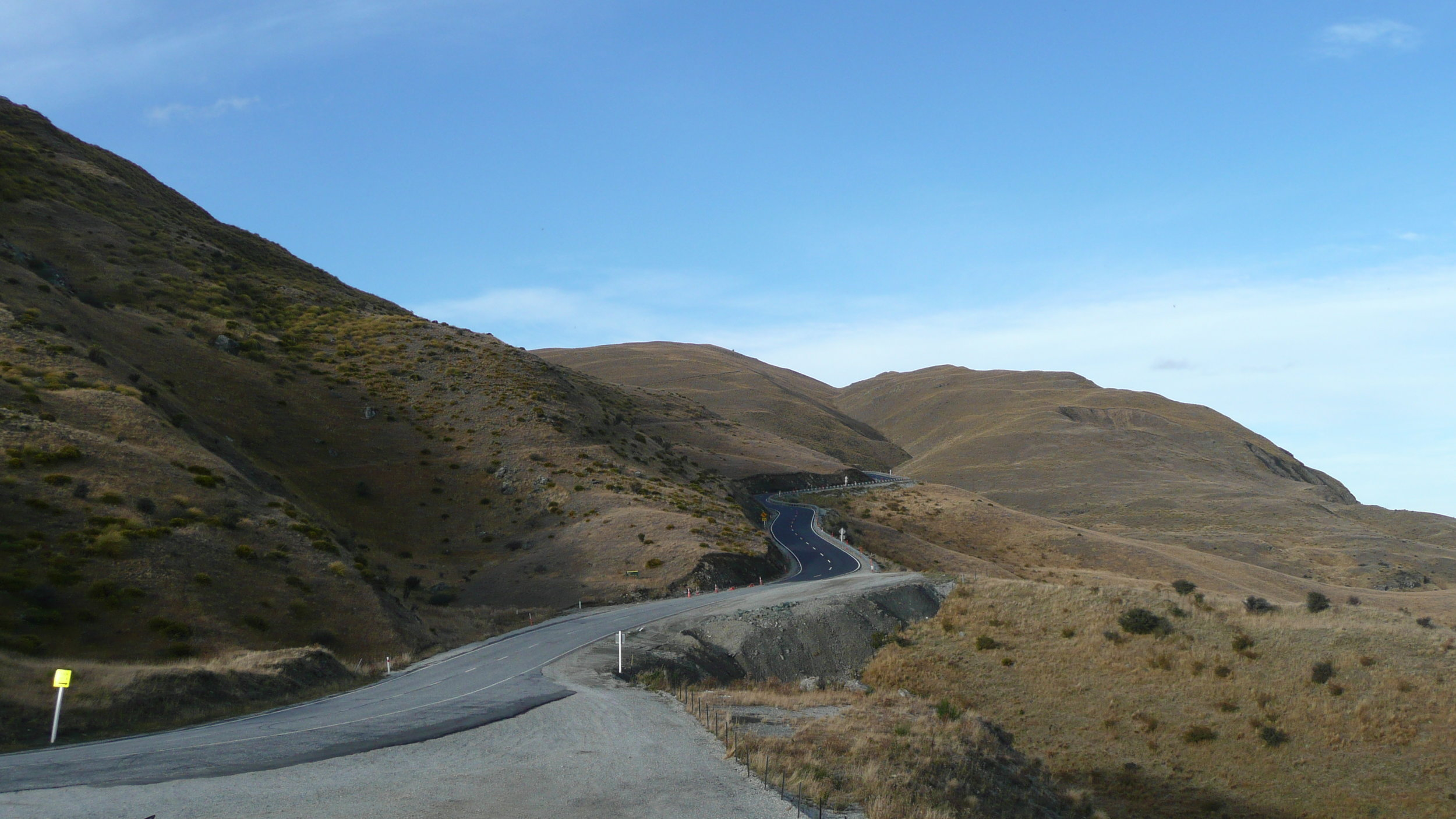 Roads in New Zealand can be steep and curvy