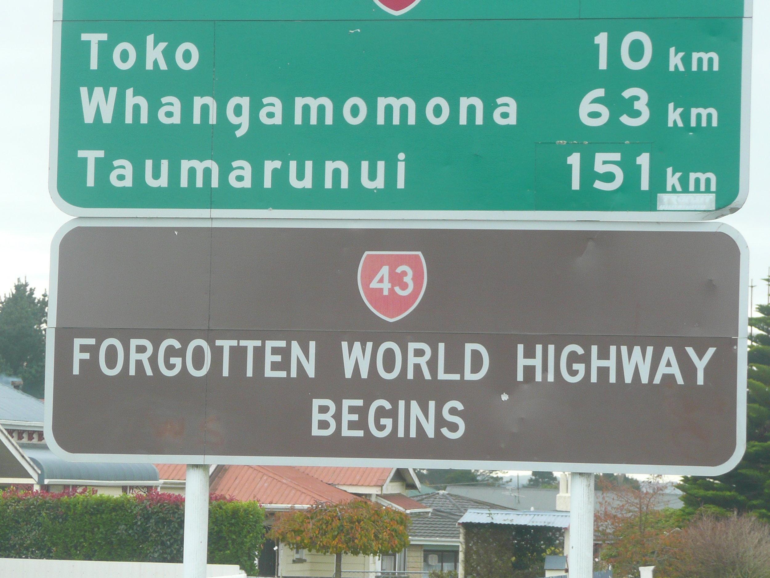 Forgotten World Highway, New Zealand