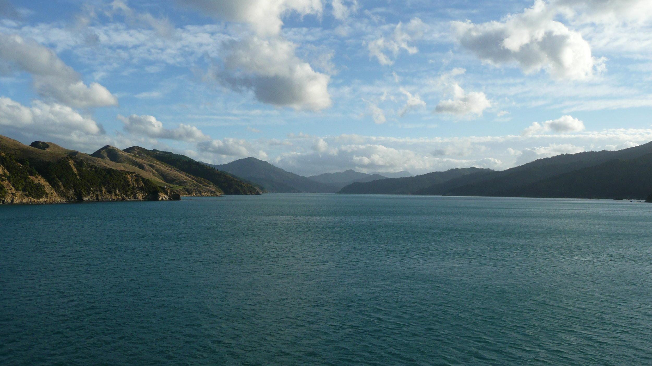 Queen Charlotte Sound from Interislander Ferry
