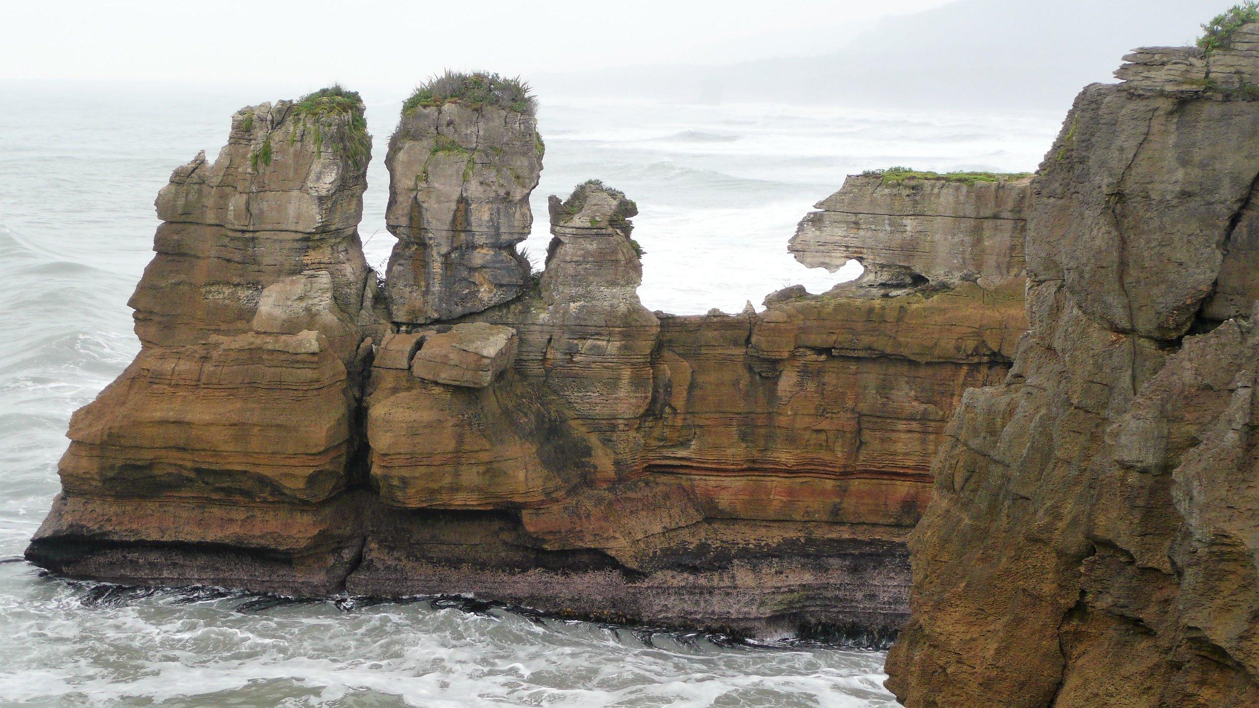 Pancake Rocks Punaikaiki, New Zealand