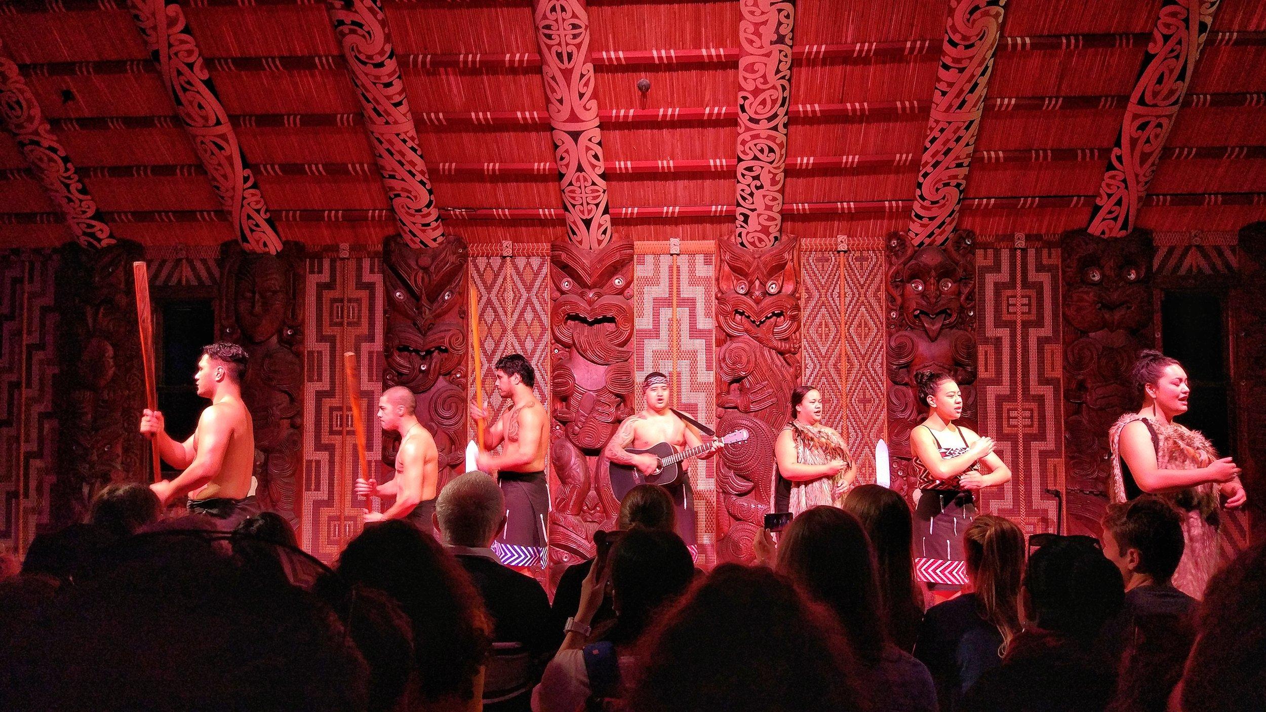 Maori cultural show at the Waitangi Treaty Grounds, Bay of Islands