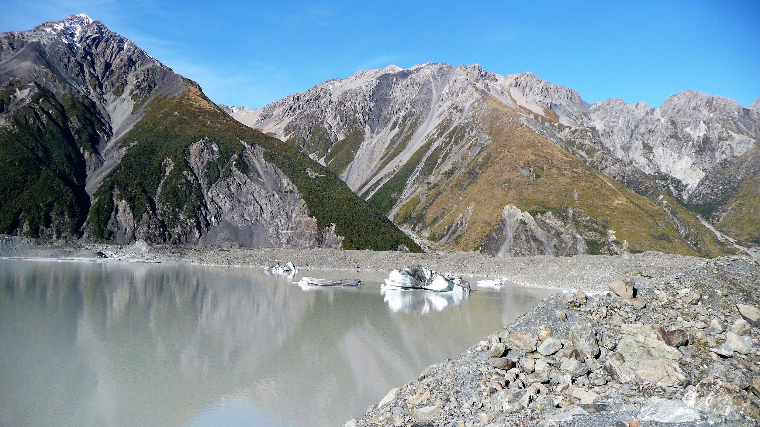 Glacier lake Mt Cook