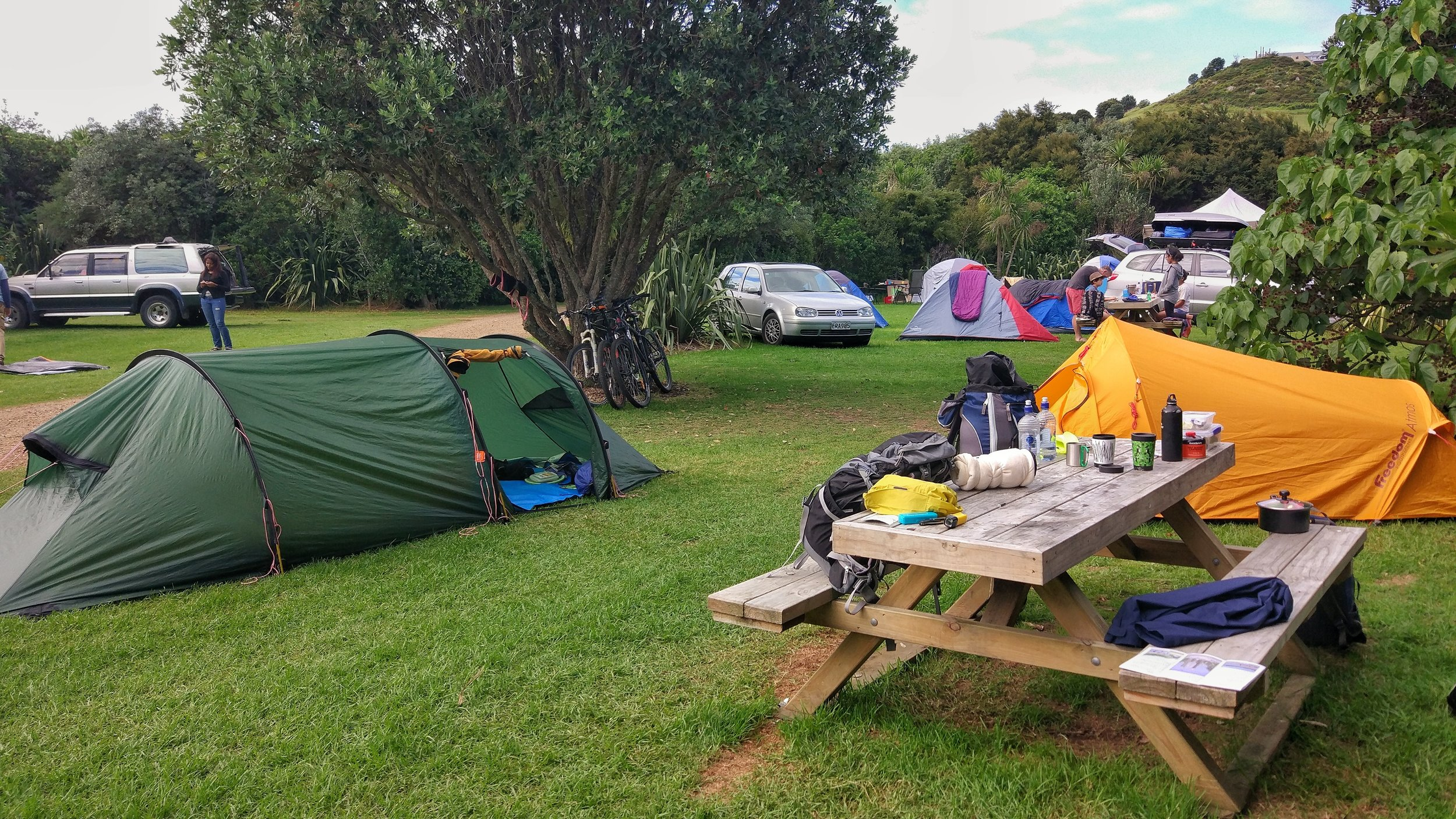 Camping on Waiheke island: better bring your car