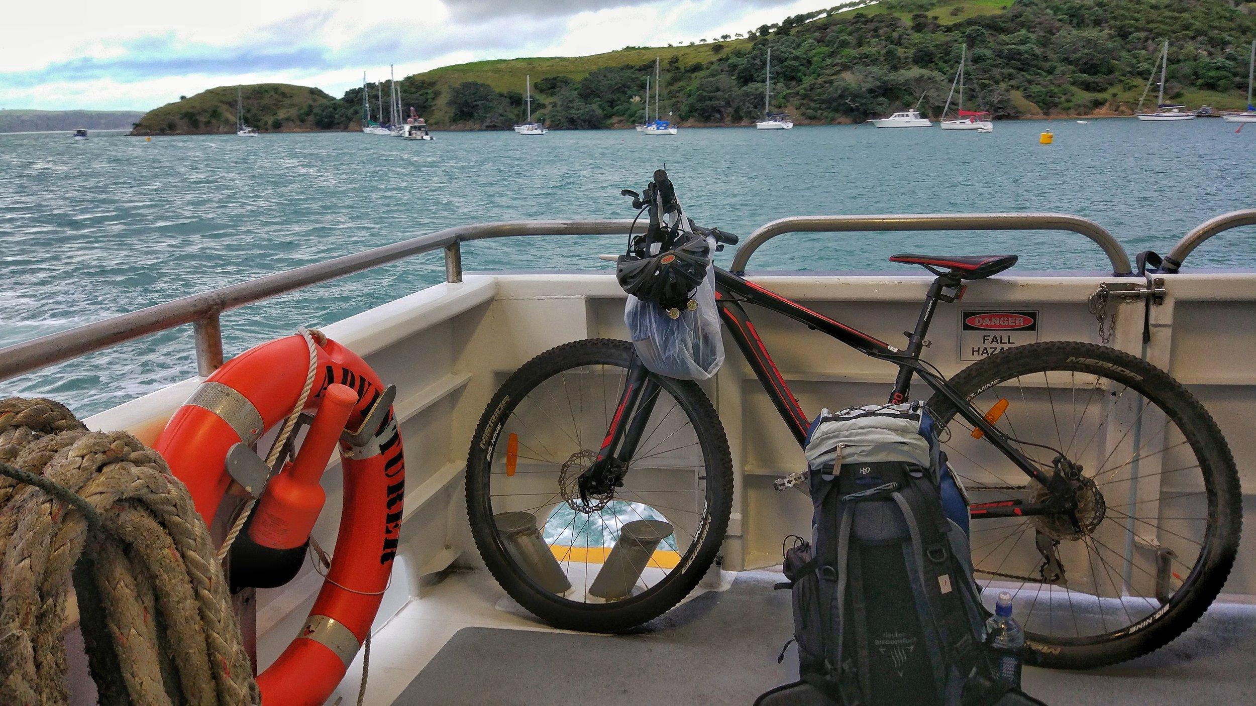 Bikes ride free on the waiheke ferry