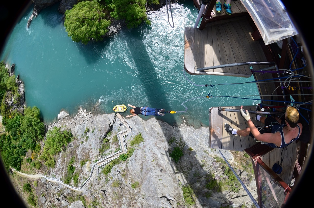THe world's first commercial bungy - kawarau bridge bungy