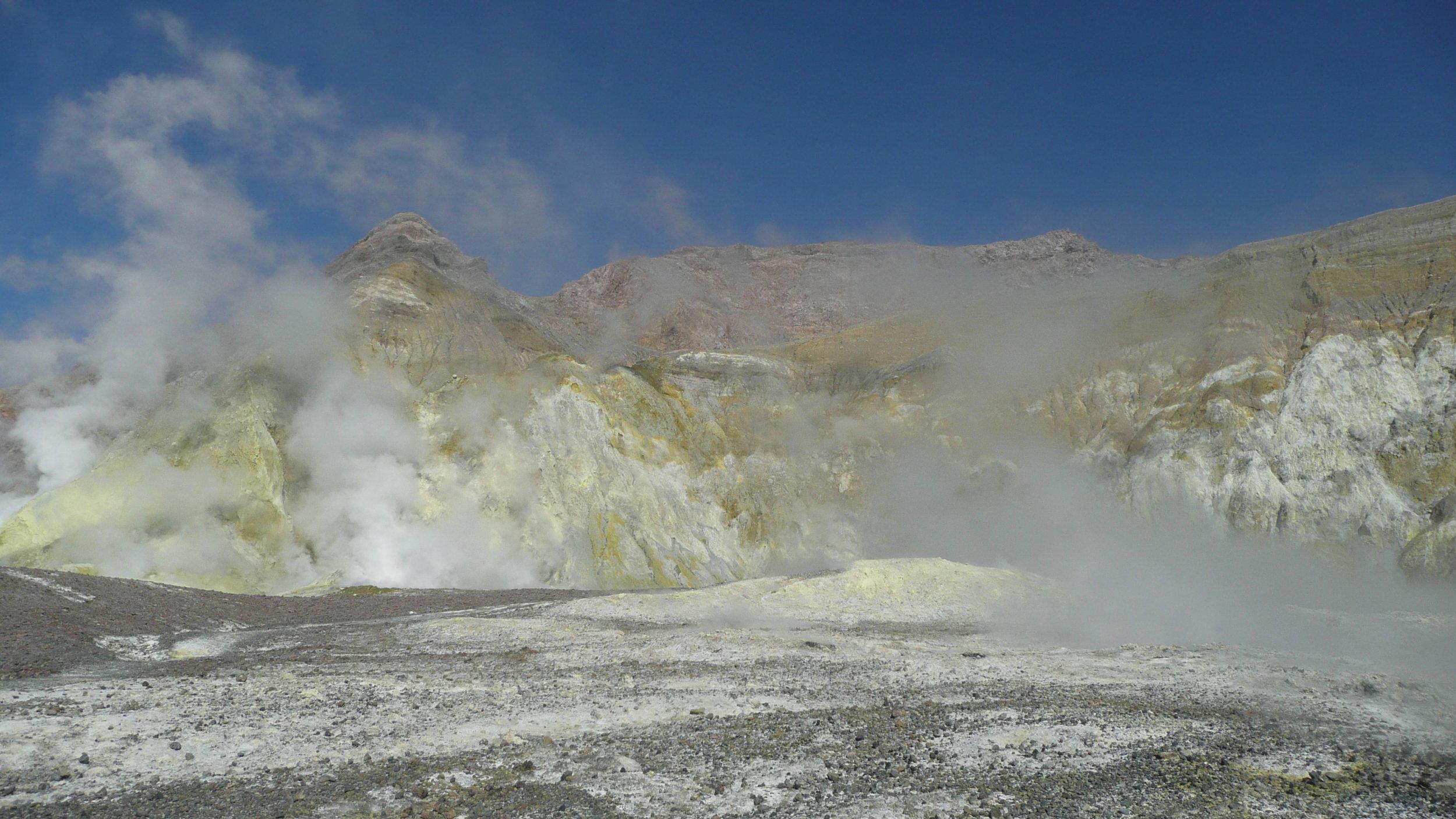 Inside the active marine volcano White island
