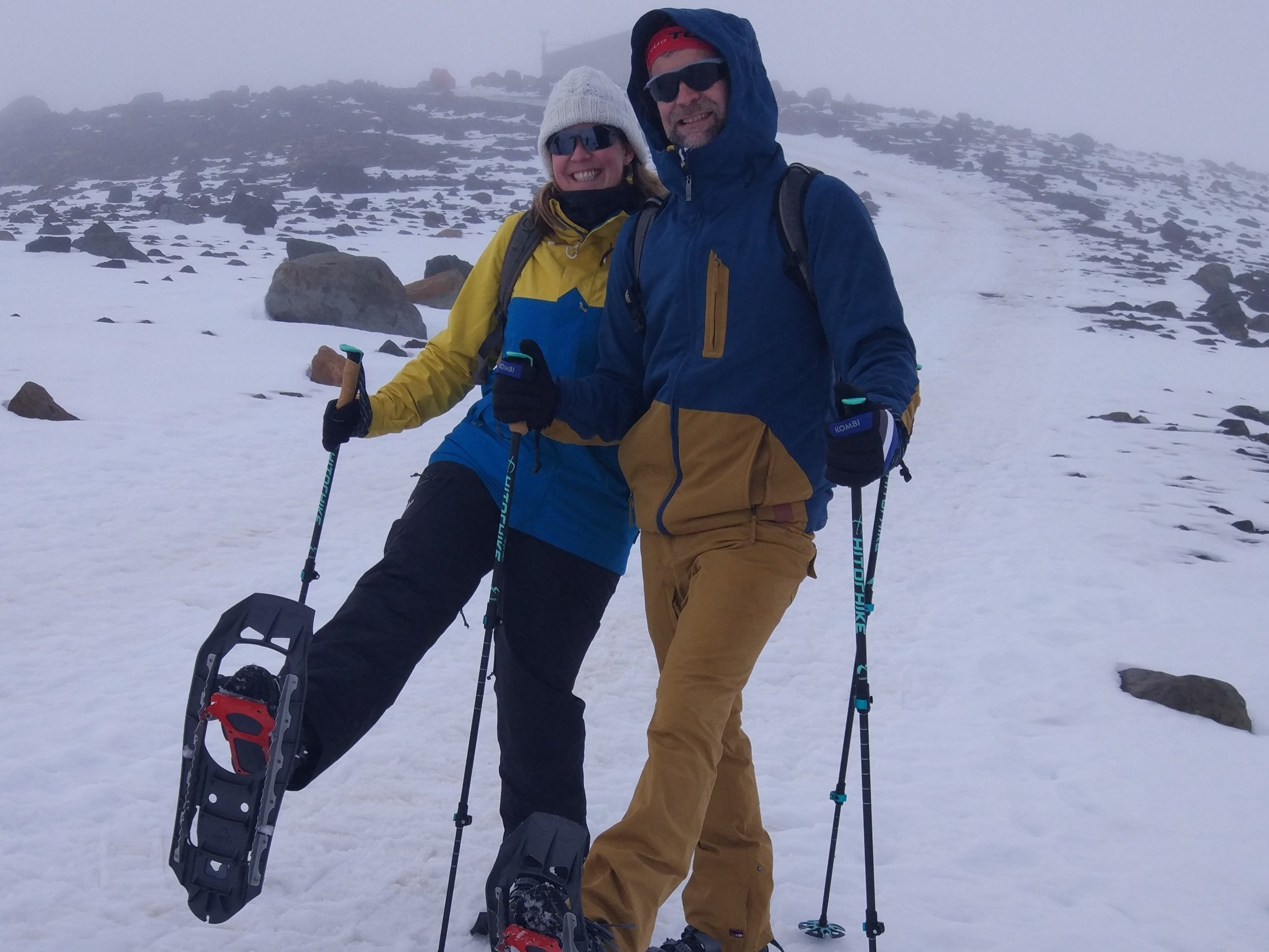Snowshoeing on Mt Ruapehu -