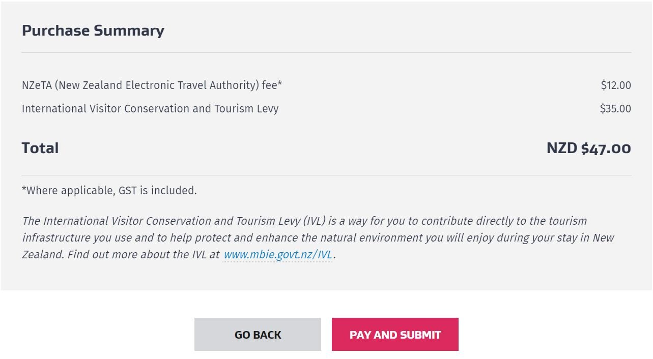 Step 8: Go on to purchase your NZeta and IVL