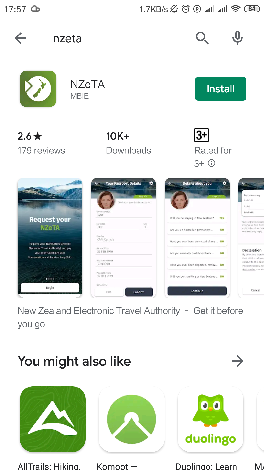 Step 1: Download the NZETA app in your app store