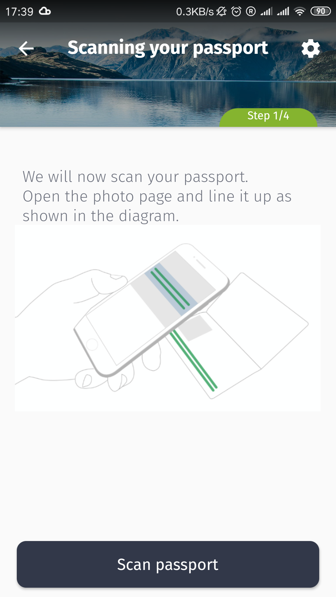 Step 2: scan the code on the bottom of your passport