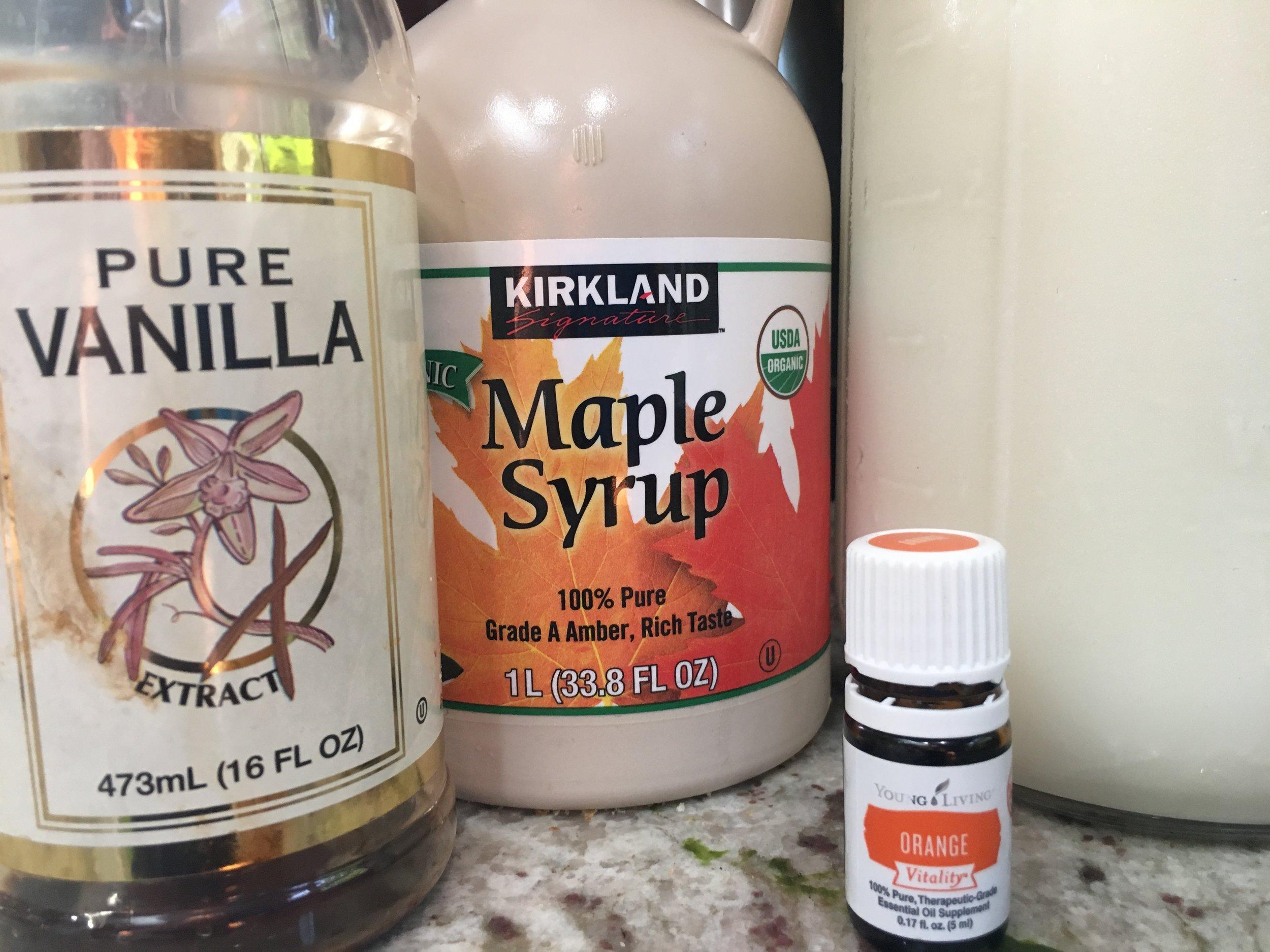 Vanilla, Maple Syrup, Milk and Orange Essential Oil