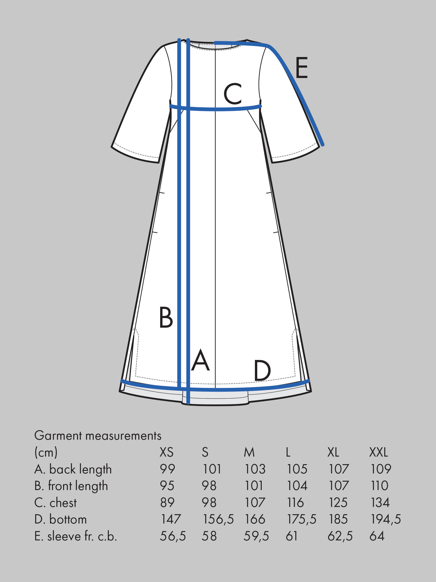 BOX PLEAT DRESS Use bust measurement for sizing.