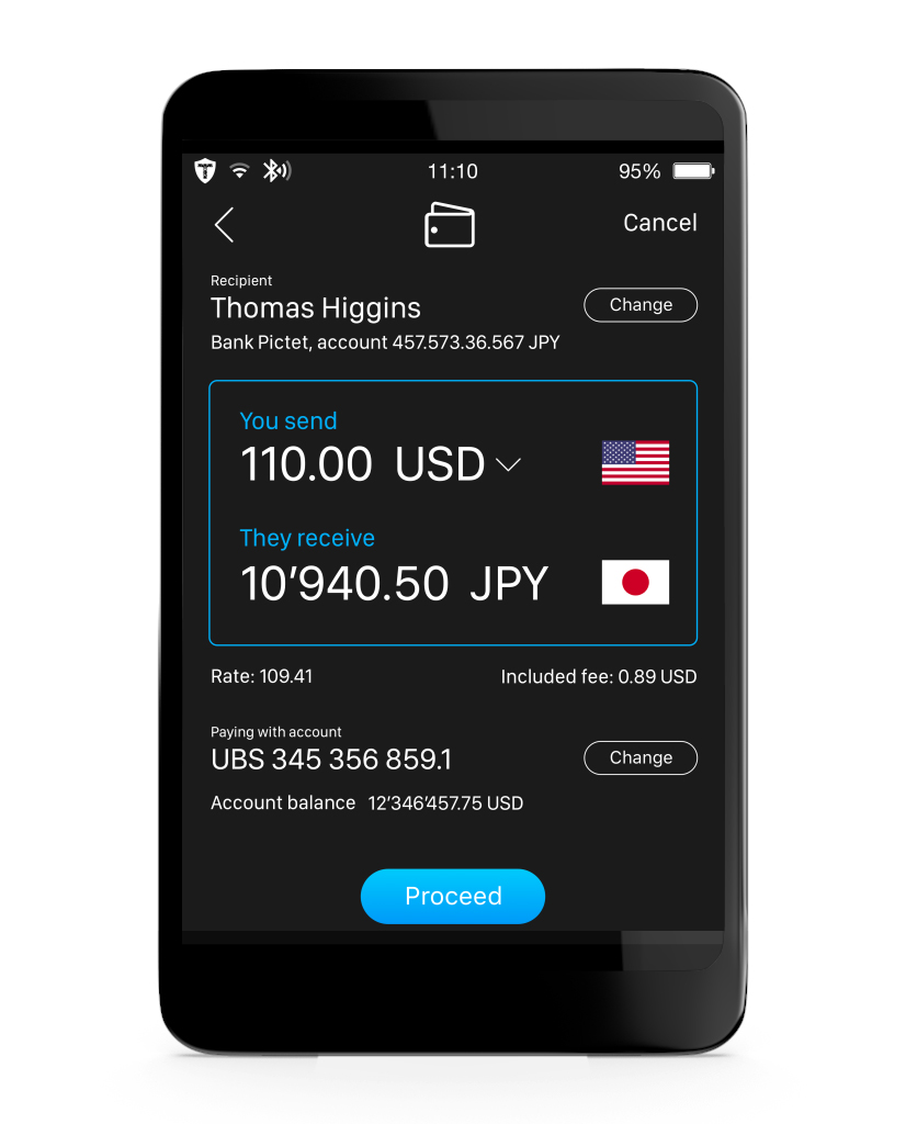 E-banking & blockchain wallet - Ultra-secure client for e-banking transactions with partnering banks, and blockchains wallet.