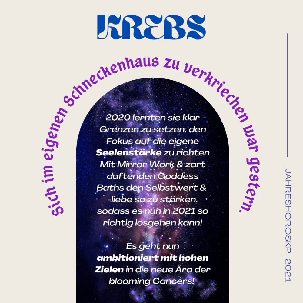 Morgen horoskop krebs liebe Horoskop Krebs