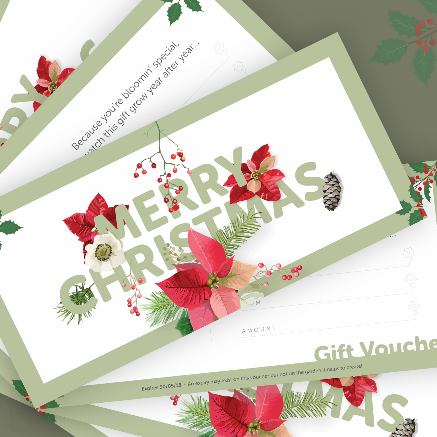 For the bloomin' special people in life - Give the gift of a beautiful garden with one of our Christmas gift vouchers. Available for a limited time only.