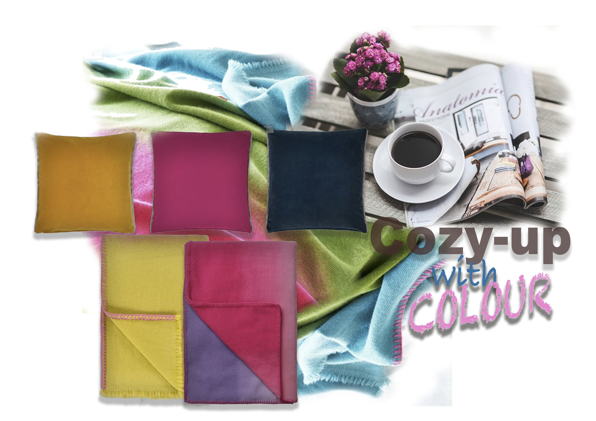 Be adventurous... splash out with colour! it enhances the mood and lifts the Spirits...