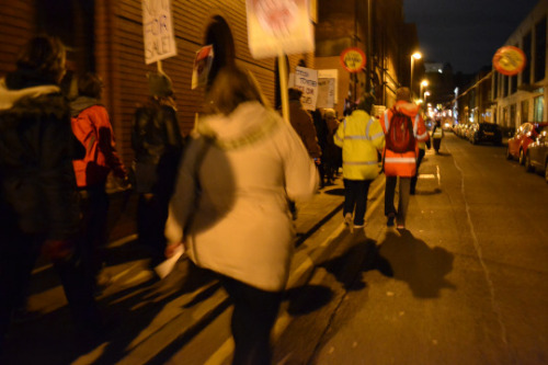 Reclaim the Night March  empowering women's march on the streets of leeds together shouting against rape shouting out for safer streets and that no means no.