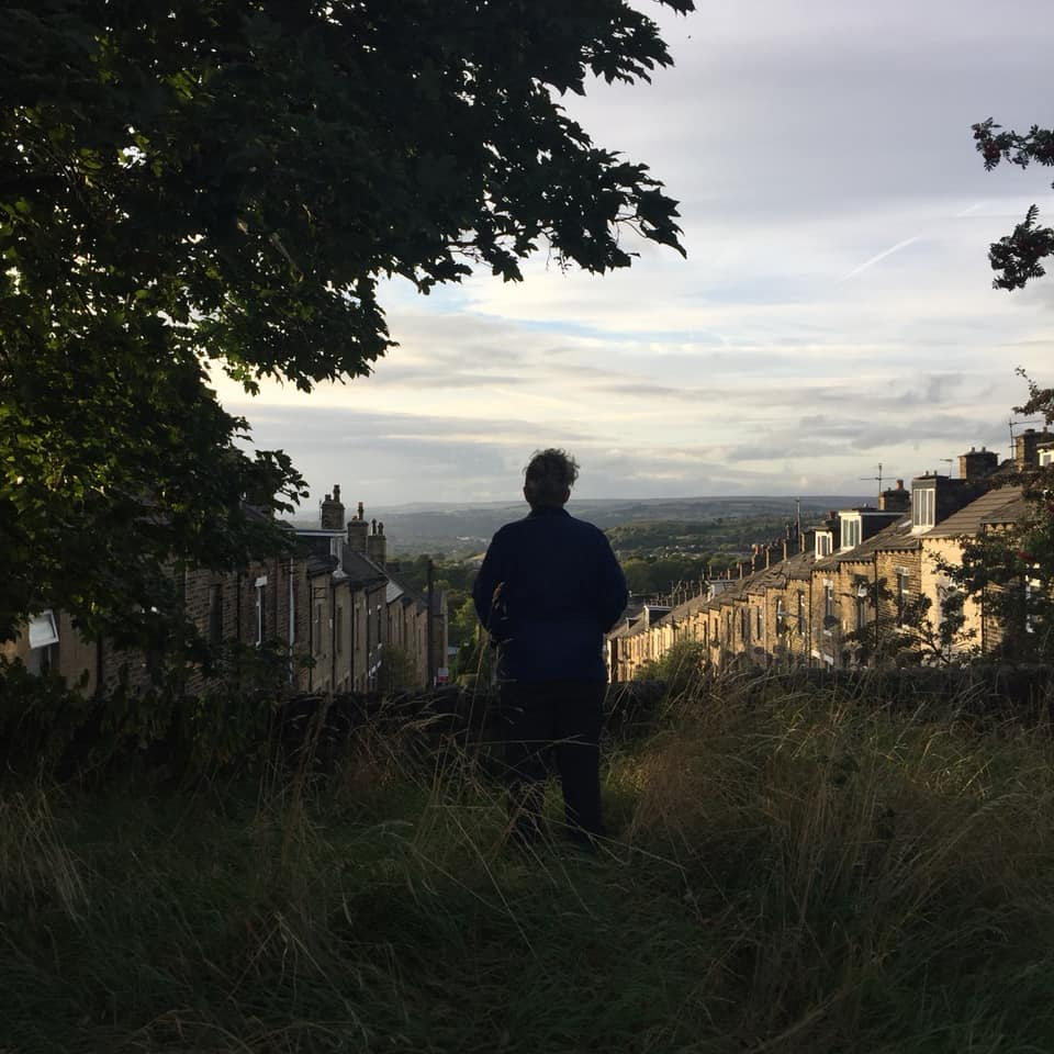 looking out of the cemetery over Bradford