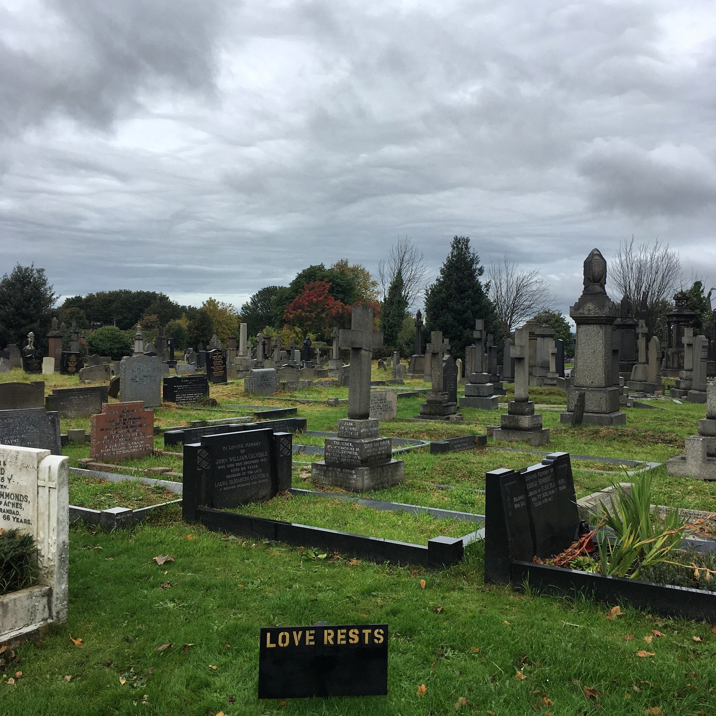 Love Rests  i've created new onsite text works taking inspiration from the text on head stones and religion