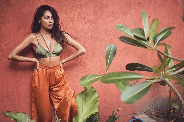 Summer heatwave 🔥 our 'IGNIS' pants and 'LUX' bra on this stunna @iamshree #goosethelabel