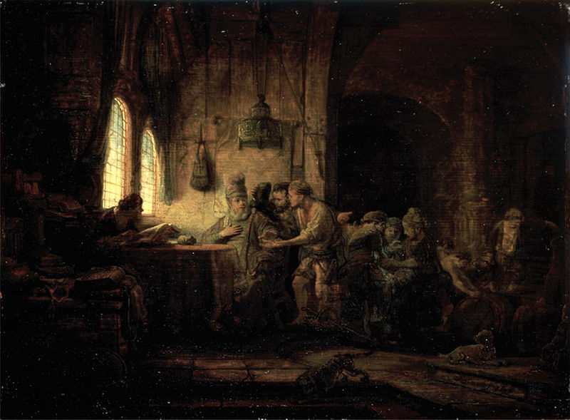 Rembrandt's 'The Parable of the Laborers in the Vineyard', 1637, Oil on Panal