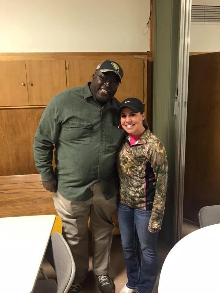 Jerry Holloway with volunteer mentor Brittany Waldman