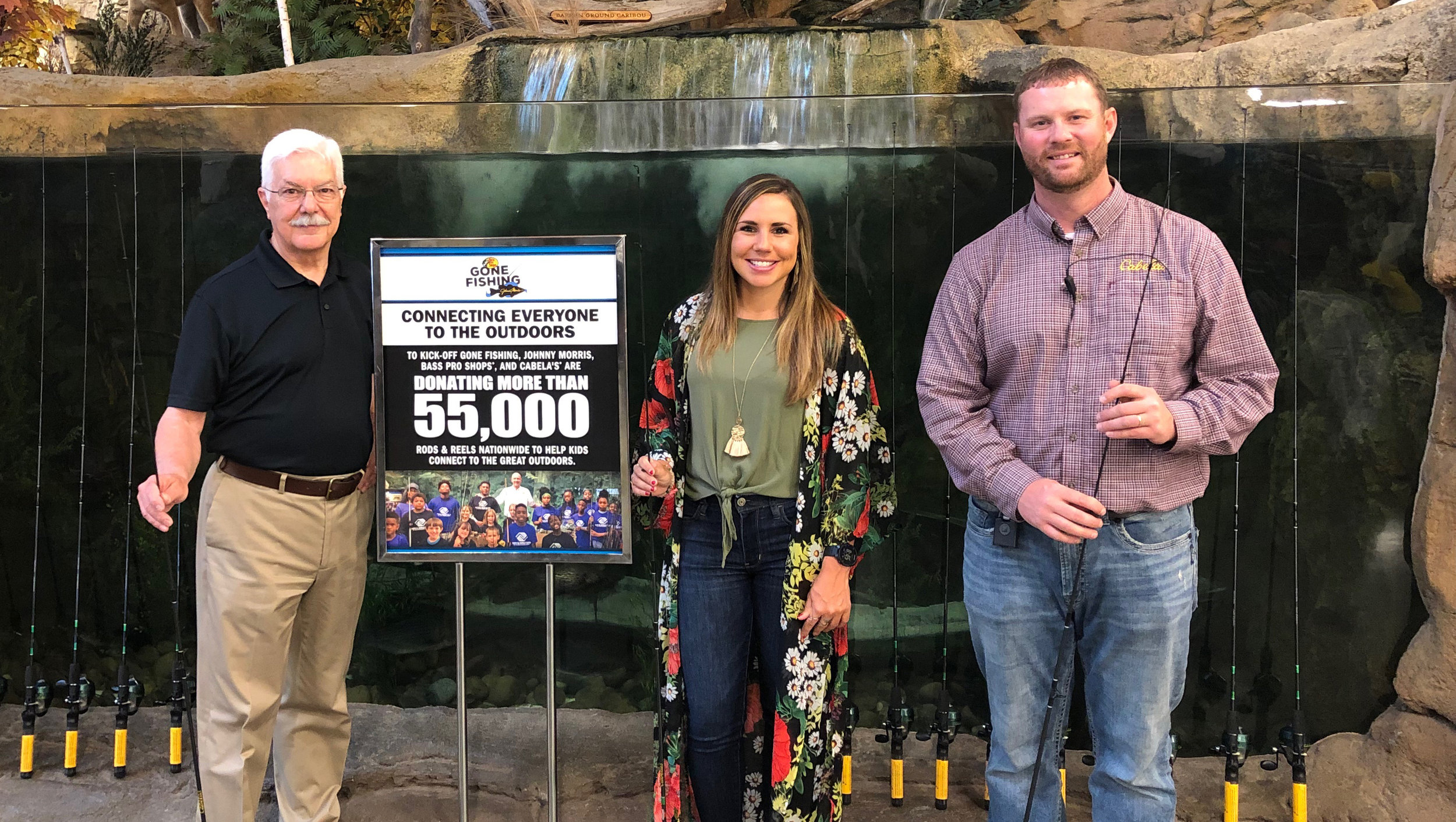 Mike Christensen and Brittany Waldman were privileged to receive rods/reels from Cabela's in support of our efforts to get more kids outdoors, fishing!