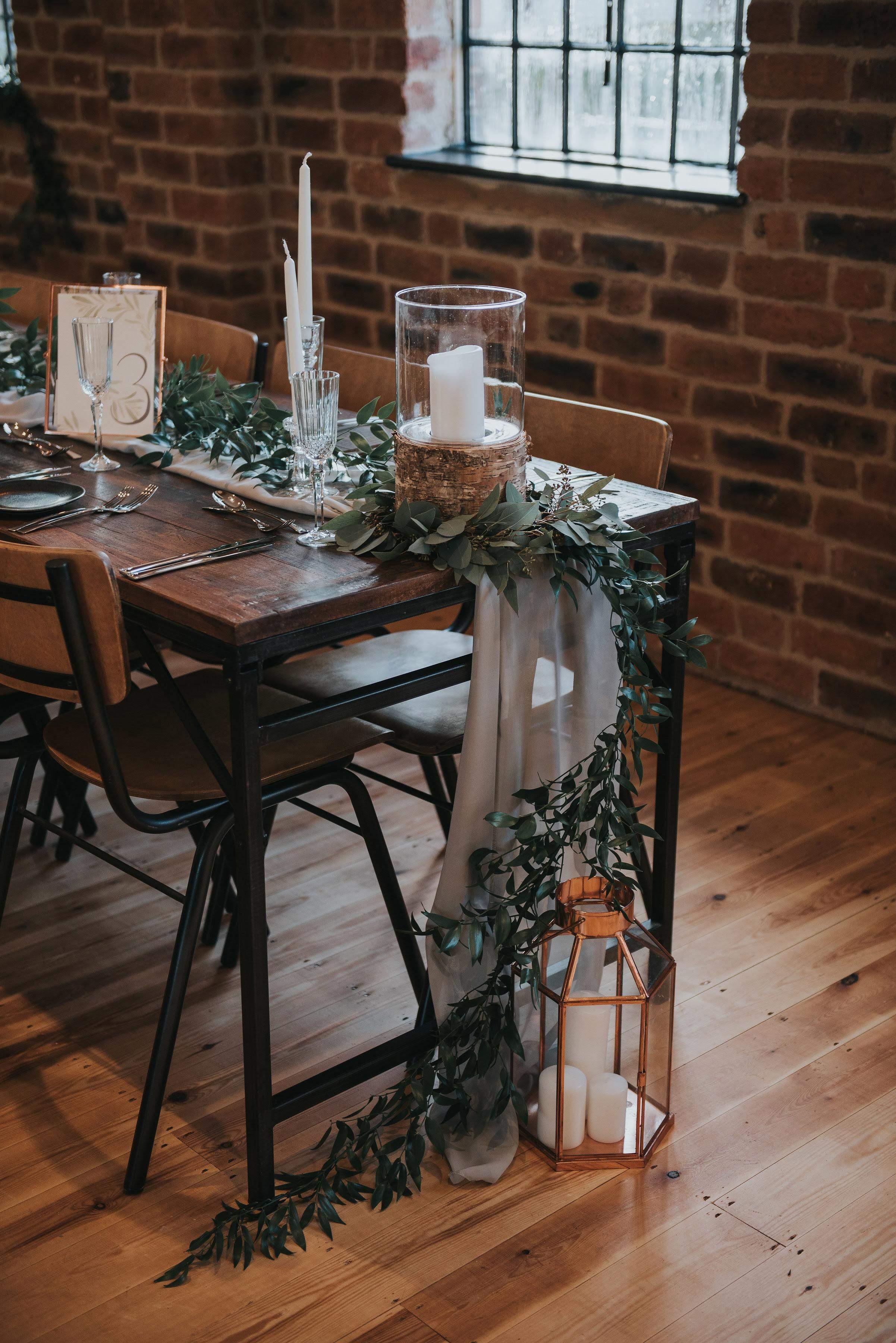Foliage table decoration
