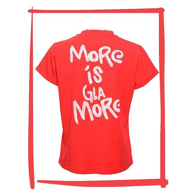 Looking for the perfect gift for your #love, bestie, or even yourself this #valentinesday? Shop our red favorites like the More is Glamore tee now! Link in bio