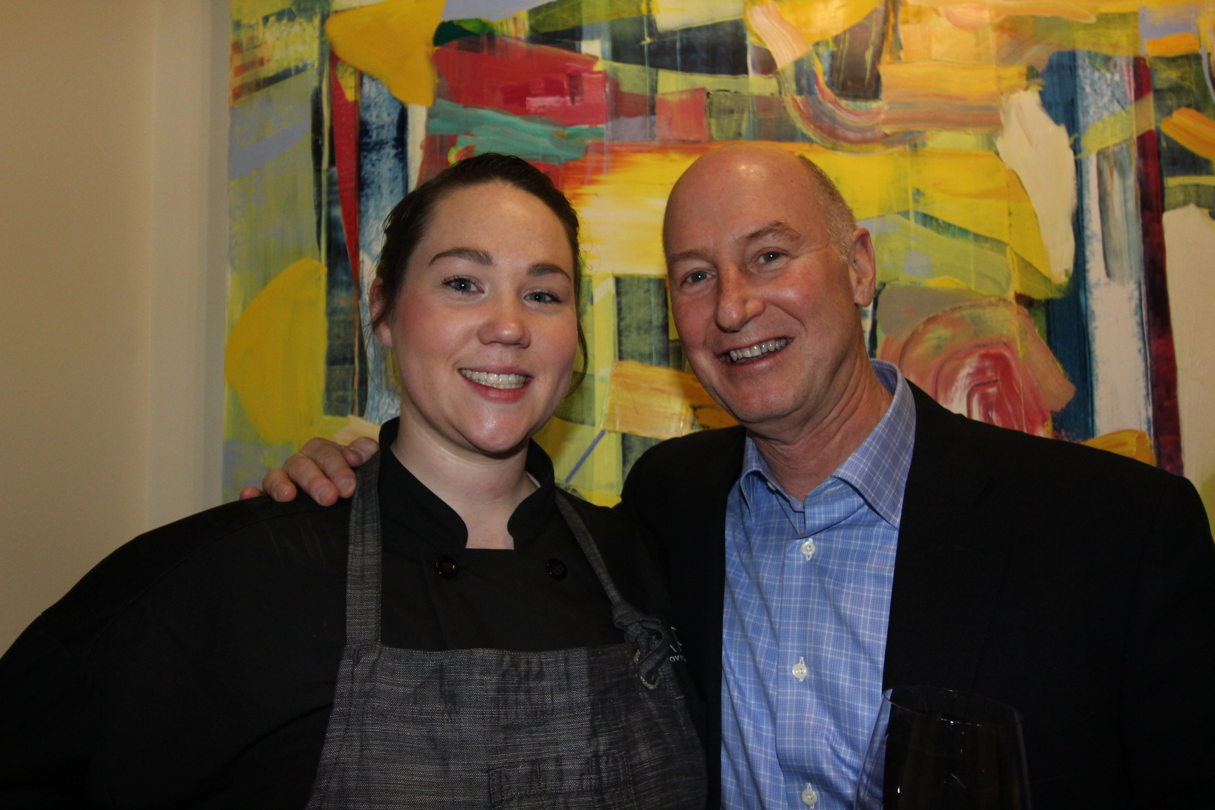 CWFW Board Member Jeff Conway and  Napa on Providence  Executive Chef Ashley LaRose.