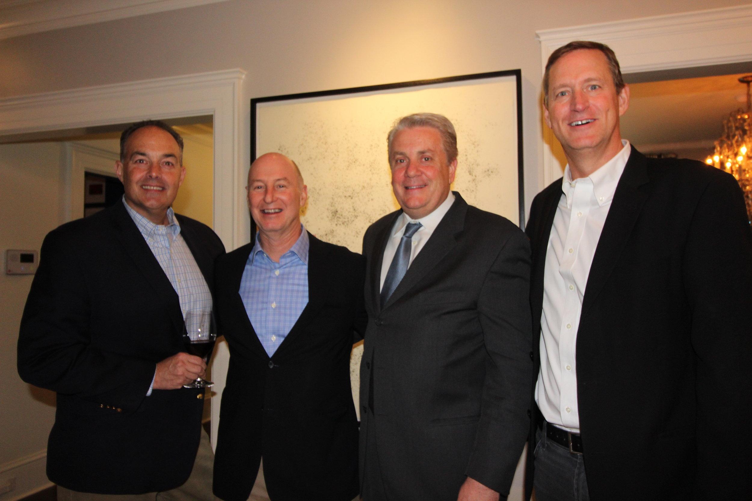 Left to right: Jim Ruff, CWFW Board Member Jeff Conway, Jim Cantalupo and Kirk Henry.