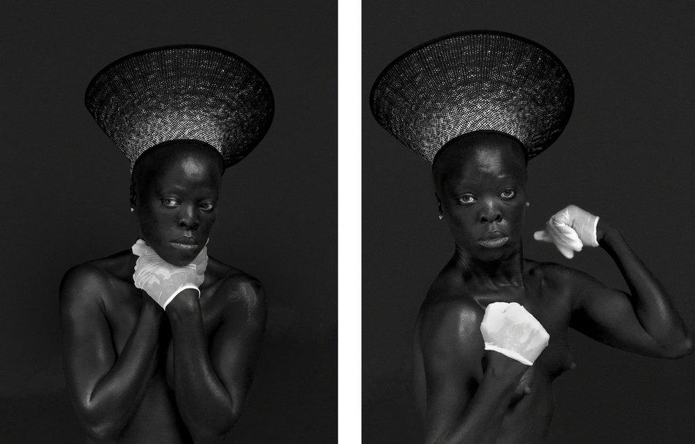 Zanele Muholi -  MaID I, Syracuse, NY (diptych) , 2015