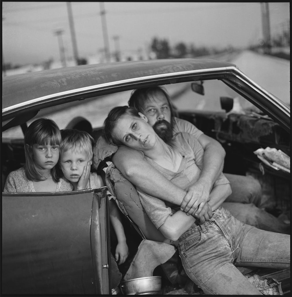 Mary Ellen Mark  -  The Damm Family in Their Car, Los Angeles, California, USA 1987