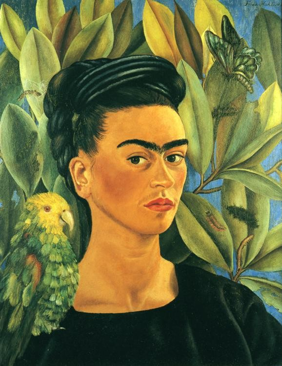 Frida Kahlo   Self portrait with Bonito  1941